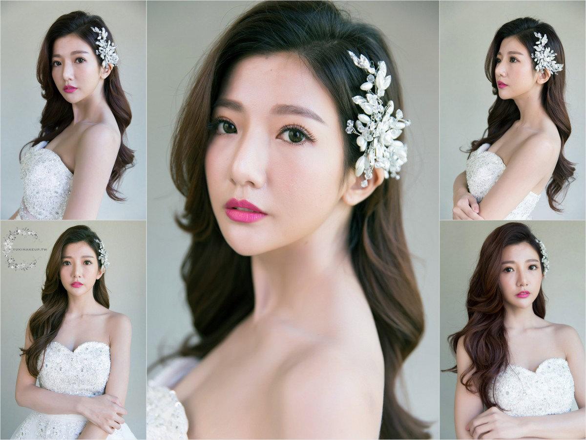 新娘秘書|新秘| 新娘造型| 台北新秘|新娘髮型| wedding hairstyle| 側邊髮造型 | 韓系新娘