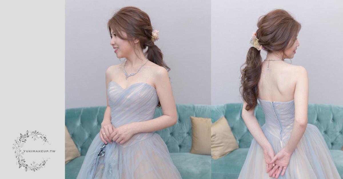 新娘秘書 新秘 新娘造型 台北新秘 新娘髮型 格萊薇庭 低馬尾造型 不凋花造型 wedding hairstyle