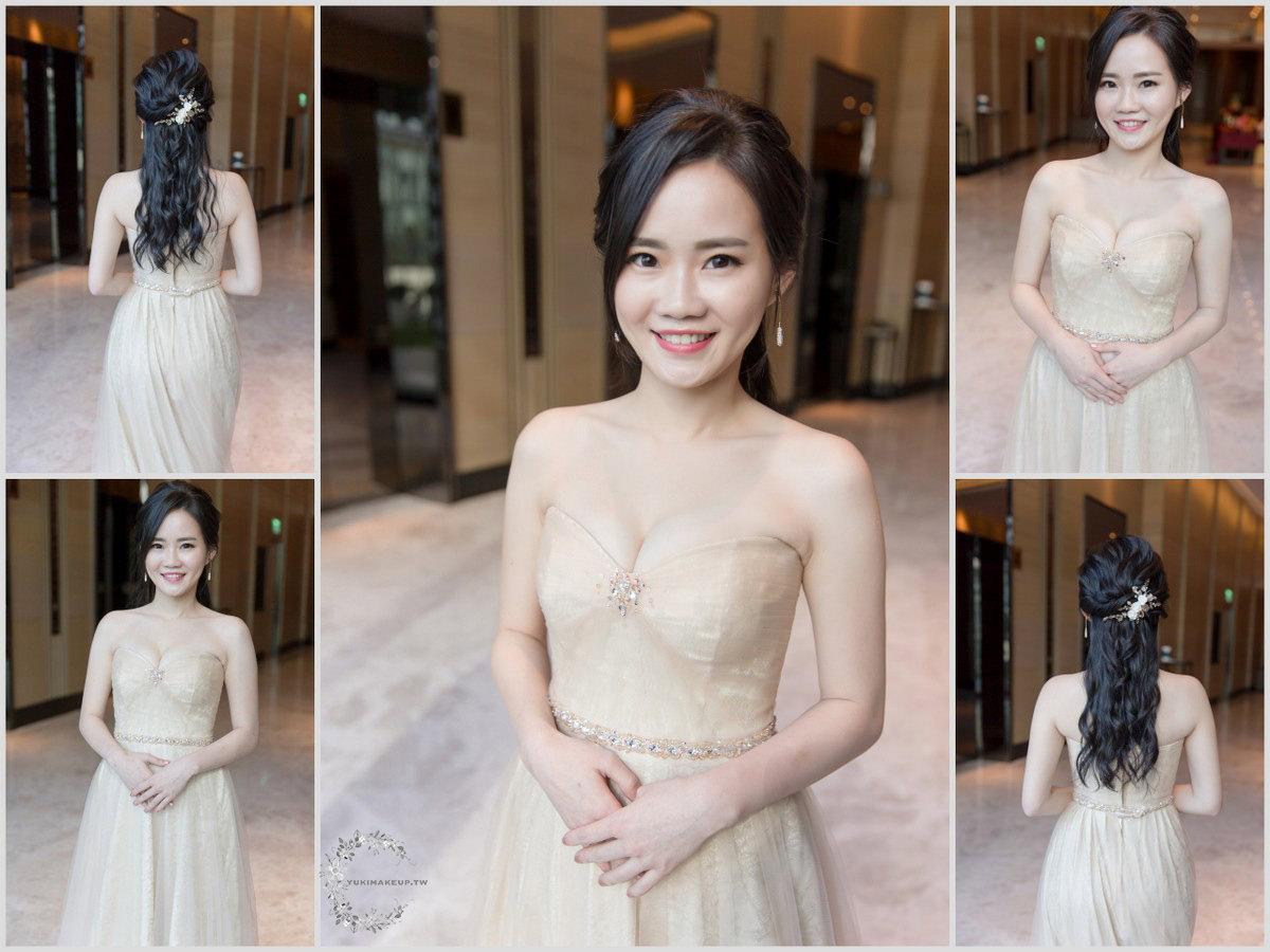 新娘秘書 新秘 新娘造型 黑髮新娘 新娘髮型 新娘妝容 台北新秘 寒舍艾麗酒店 公主頭造型