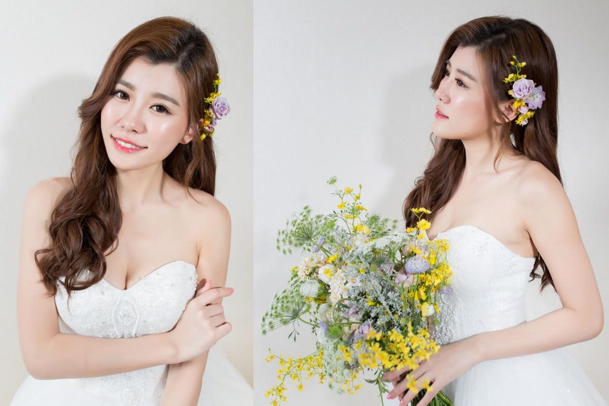 鮮花造型|新娘秘書|新秘|新娘造型|台北新秘|白紗造型|新娘髮型|新娘妝容|wedding hairstyle|側邊髮造型