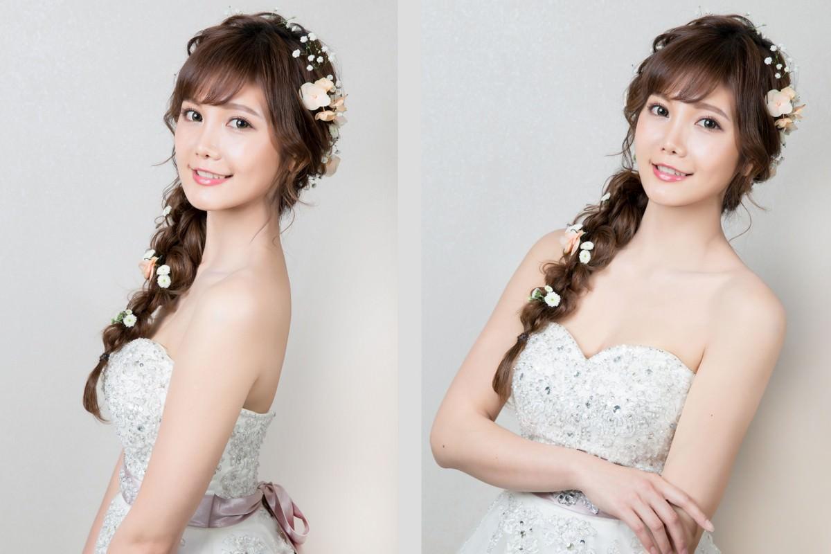 掌握新娘髮型及新娘妝容上的修飾重點,你也能輕鬆成為小臉美女