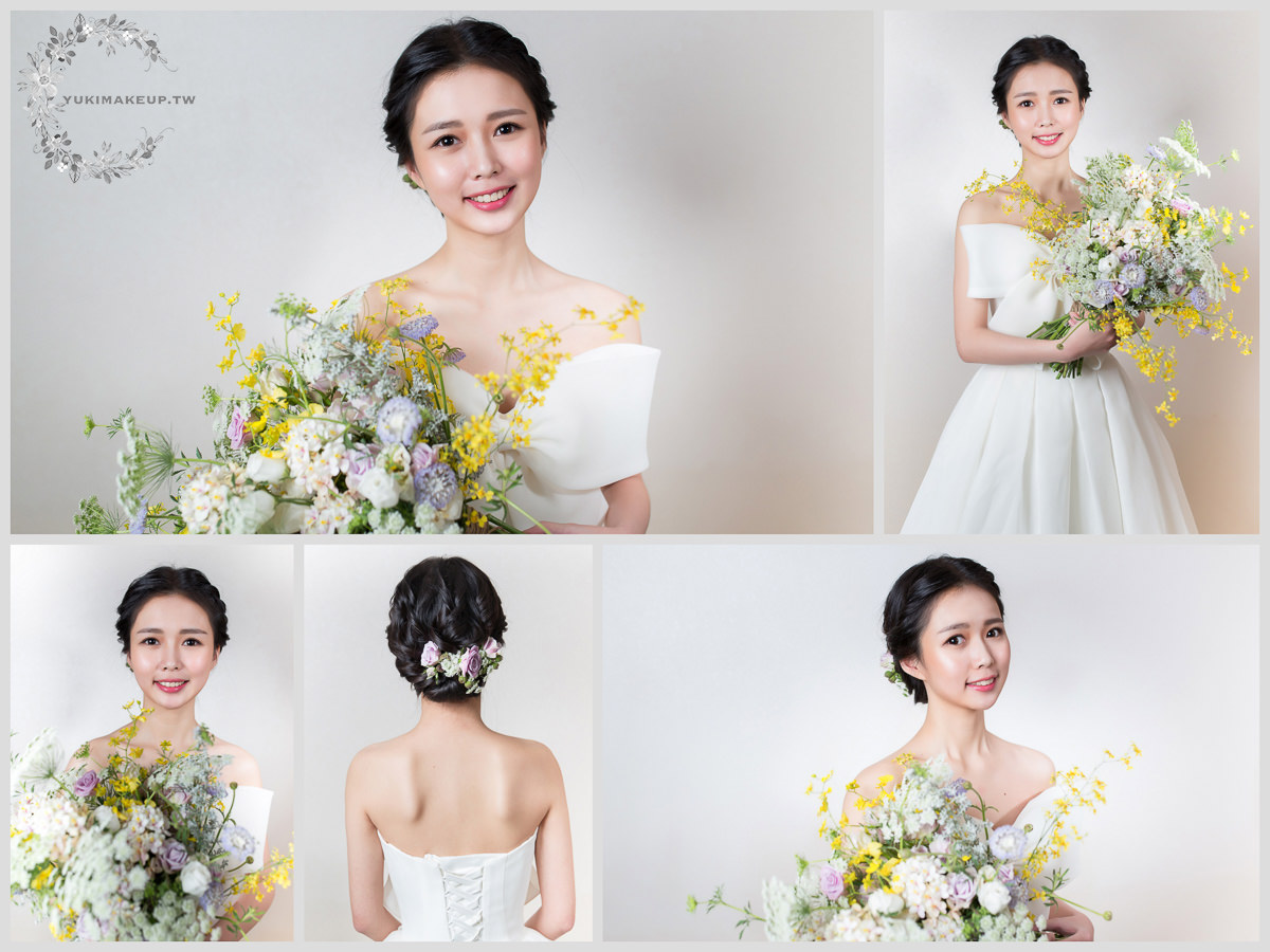 新娘秘書,新秘,新娘造型,桃園新秘,新娘髮型,新娘妝容,wedding hairstyle, 黑髮新娘,素人改造,韓系新娘