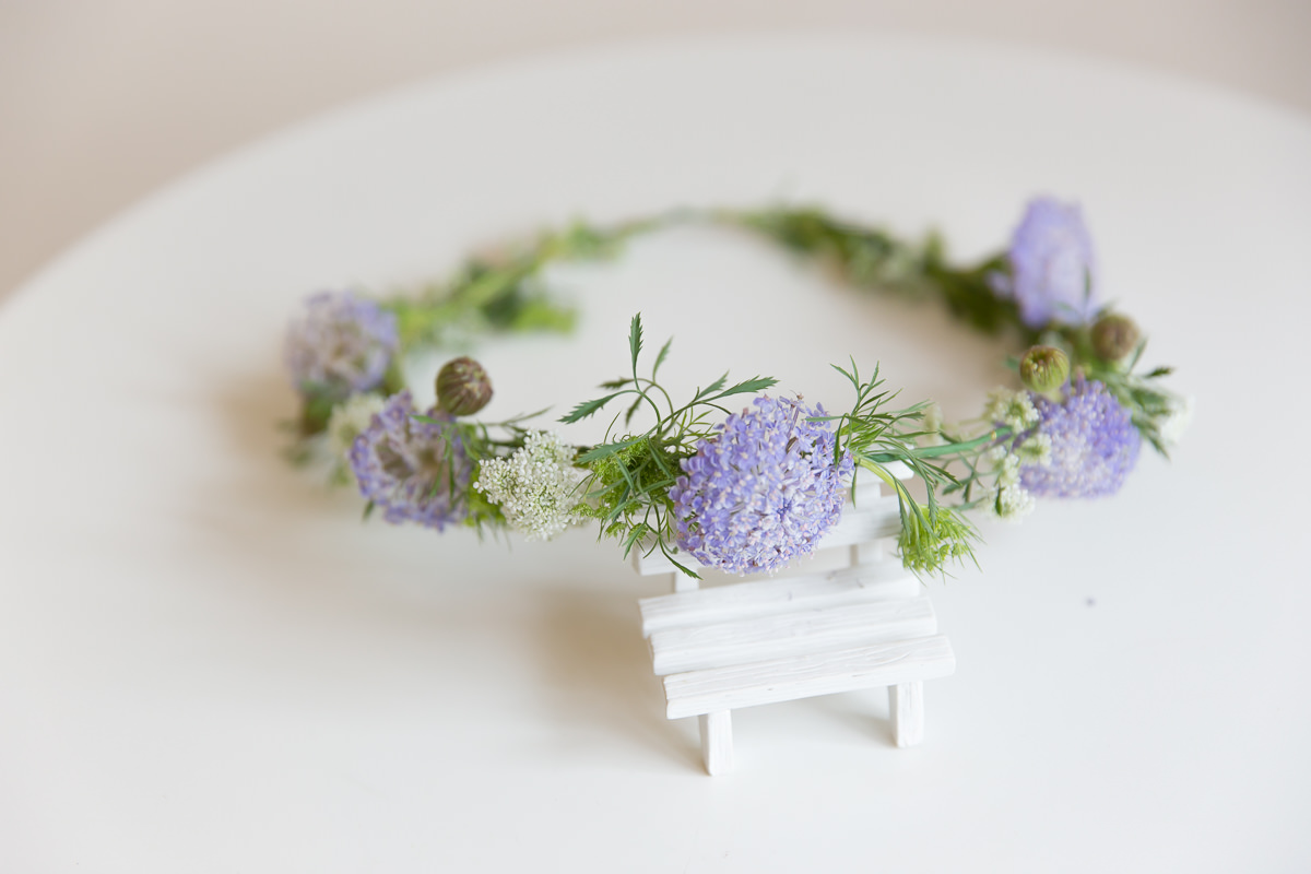 鮮花飾品,新娘花環,鮮花新秘,清新風格,紫色花環