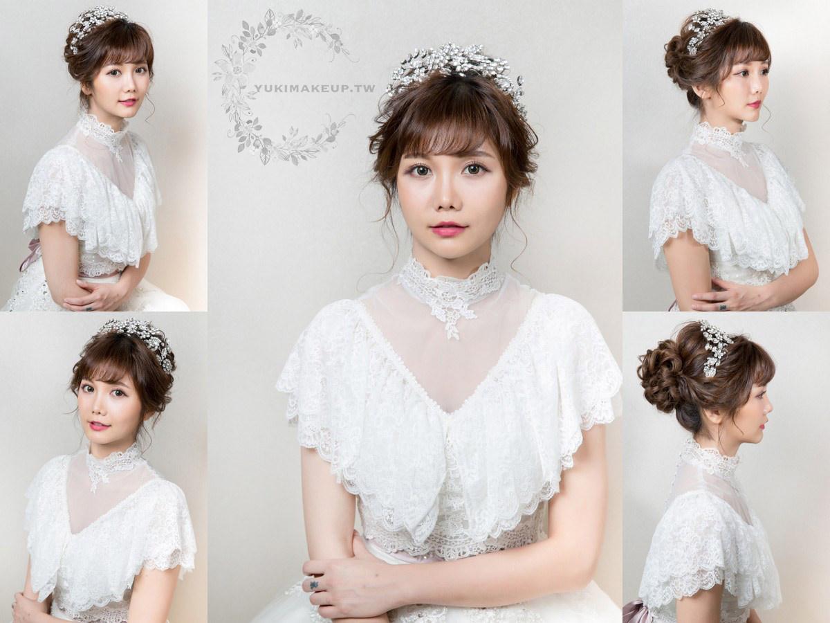 新娘秘書|新秘|新娘造型|桃園新秘|新娘髮型|高盤髮造型|新娘妝容|wedding hairstyle|華麗風造型|白紗造型