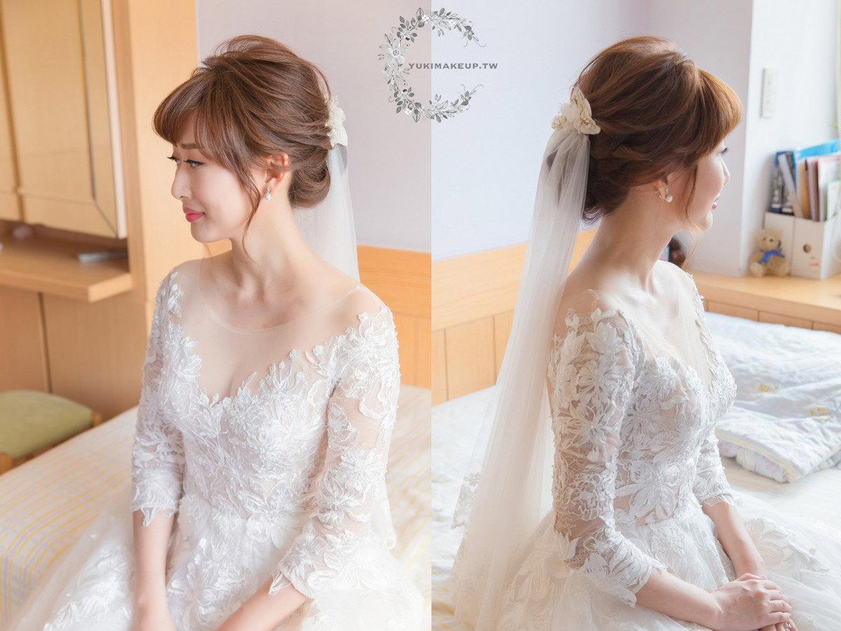 新娘秘書|新秘|新娘造型|白紗造型|新娘髮型|台北新秘|盤髮造型|C型瀏海|新娘妝容|wedding hairstyle|