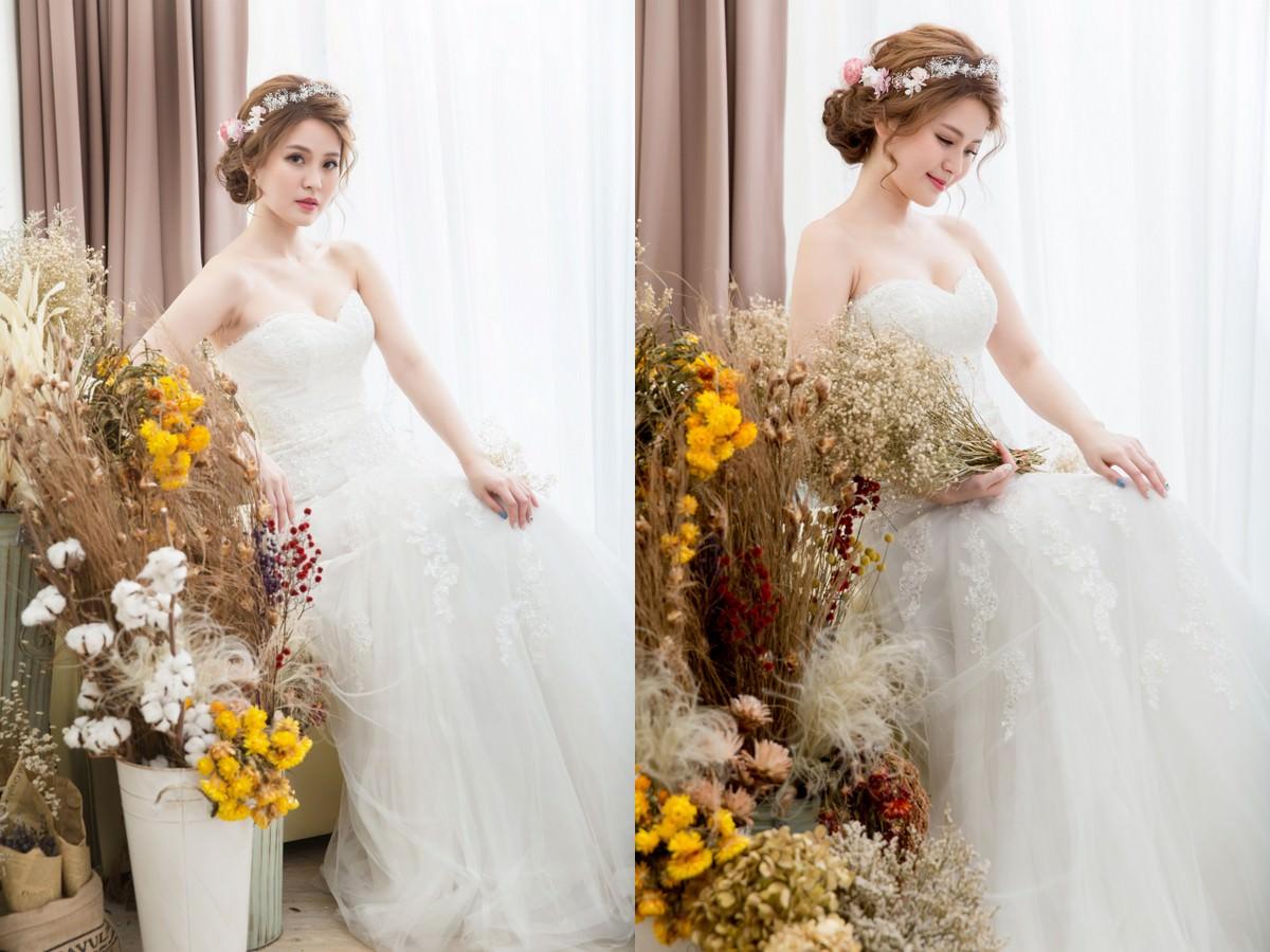 新娘秘書,花環造型,新秘,新娘造型, 高雄新秘,新娘髮型, 新娘妝容,wedding hairstyle,