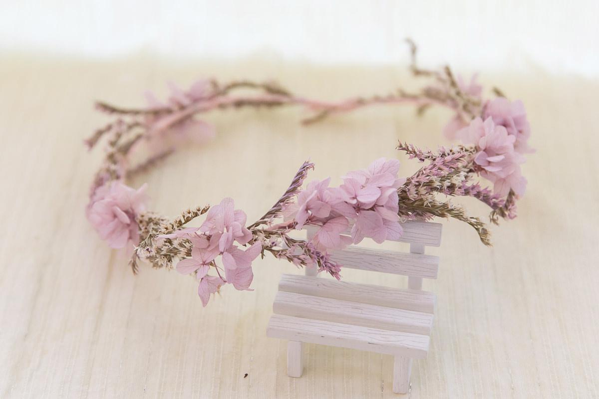 紫色藤蔓仙氣感花環