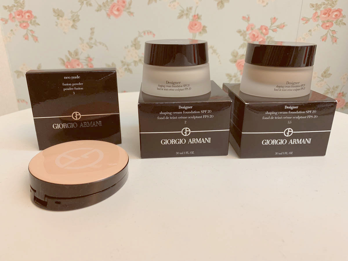 彩妝|GIORGIO ARMANI設計師粉底霜、亞曼尼輕紗裸光幕斯蜜粉餅