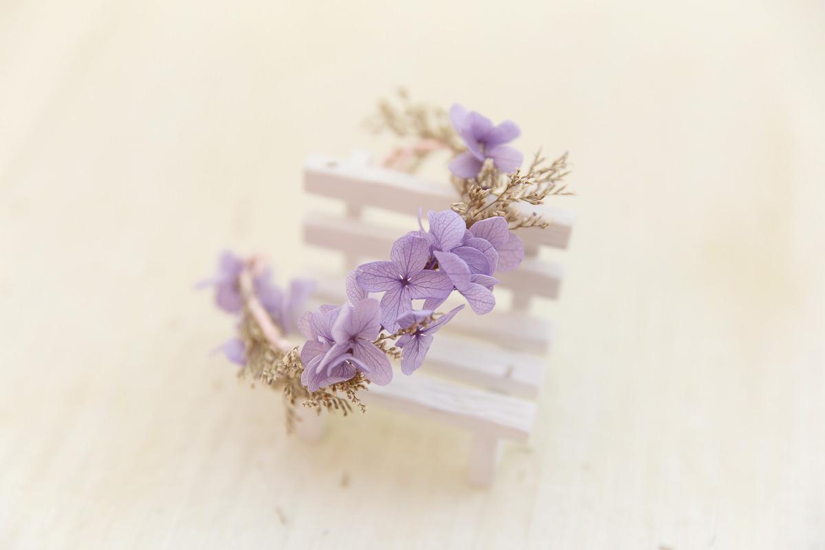 新秘Yuki,新娘手腕花,鮮花新秘,乾燥花手腕花,不凋花飾品,不凋花手腕花, 紫色手腕花