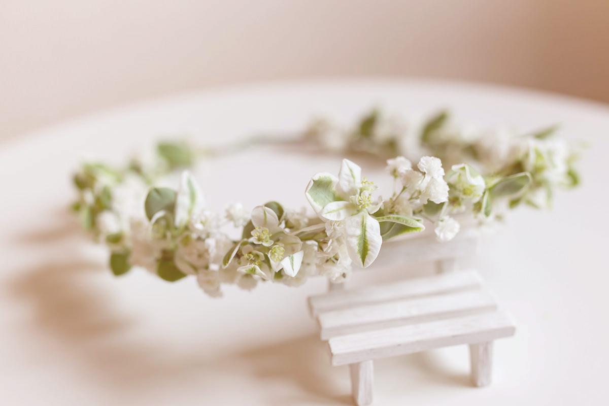 鮮花花環|夏日清新風格綠色鮮花花環