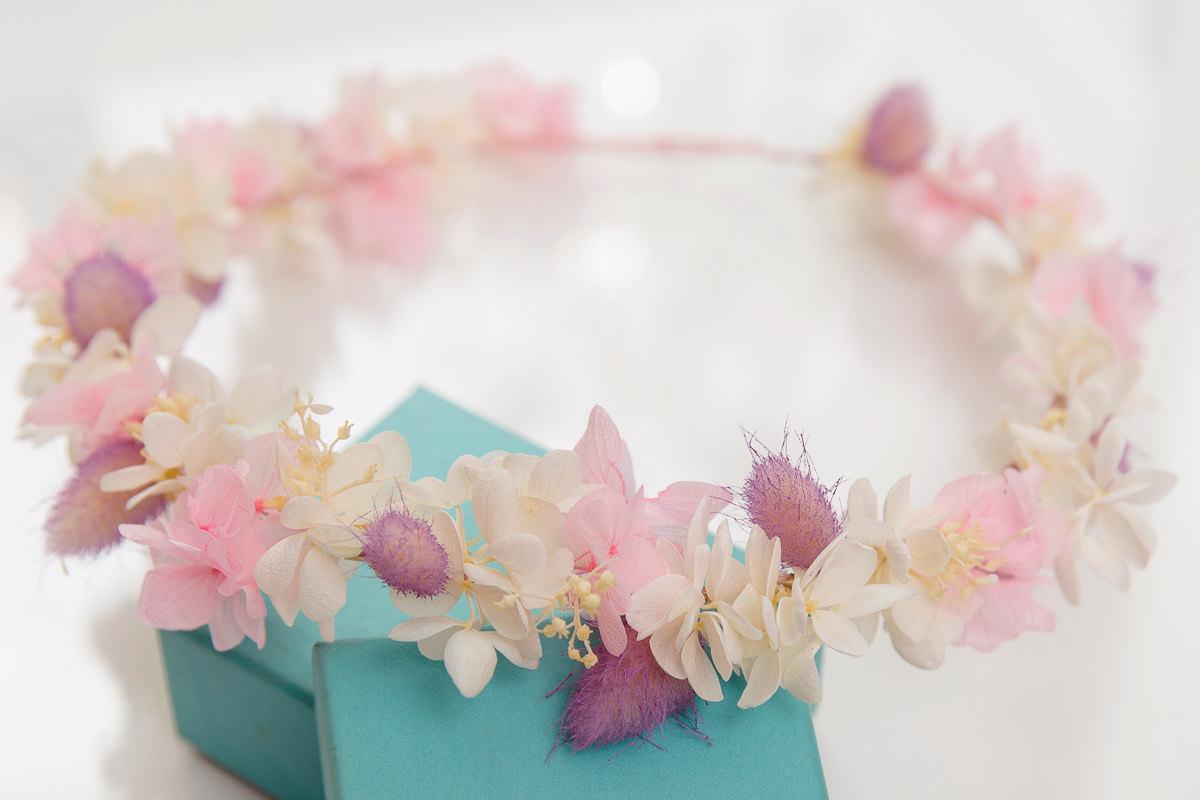 甜甜柔柔的粉色不雕花花環