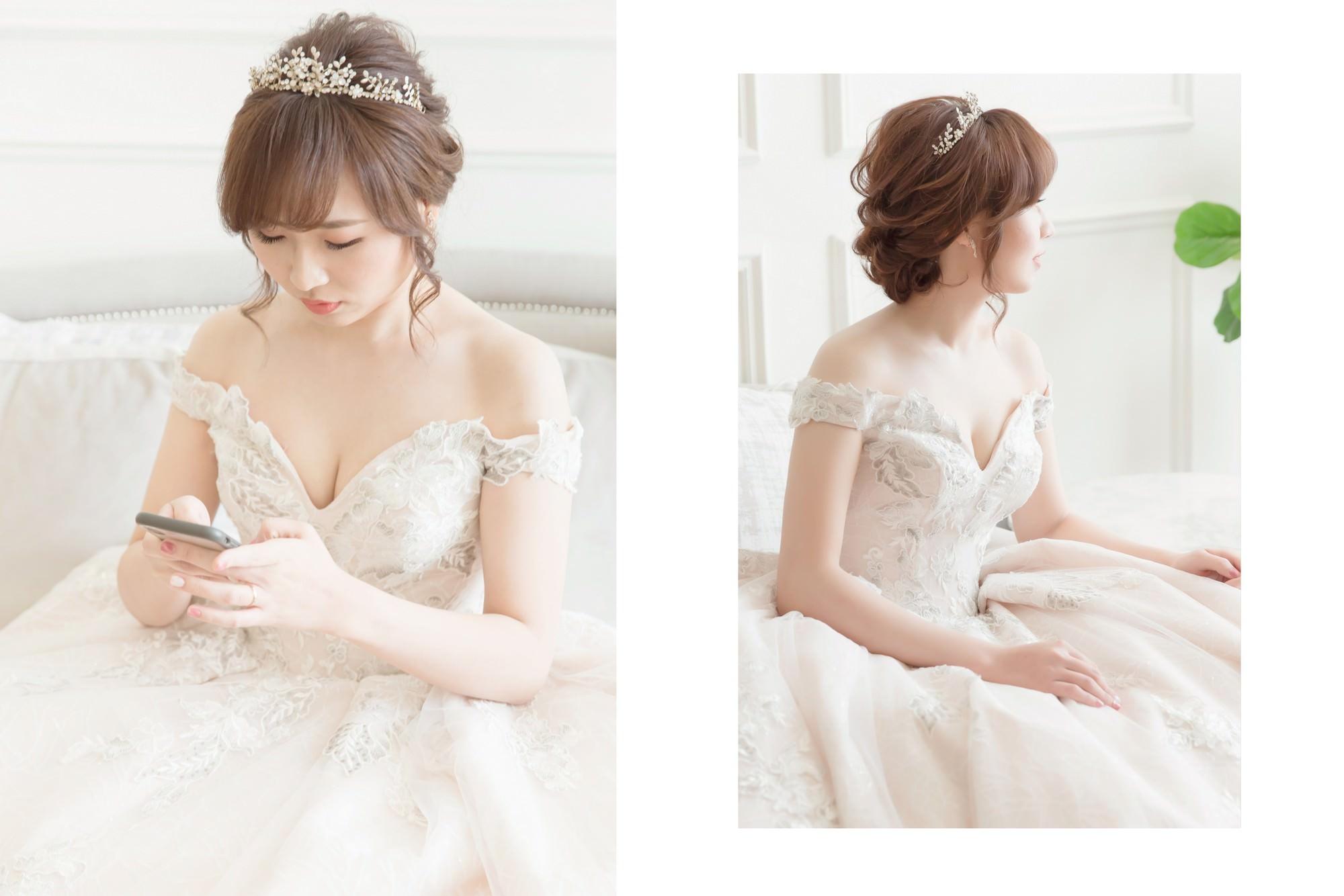 新娘秘書| 新秘| 新娘造型|白紗造型| 新娘髮型| 盤髮造型| 新娘妝容| wedding hairstyle| 台中新秘|皇冠造型