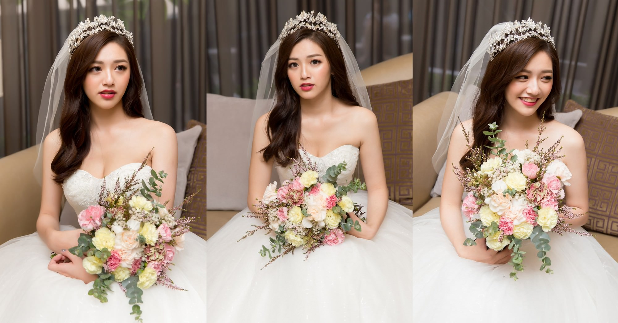 新娘秘書,新秘,新娘造型,新娘髮型,新娘妝容,高雄新秘,wedding hairstyle, 皇冠造型, 華麗風, 白紗造型, 素人改造