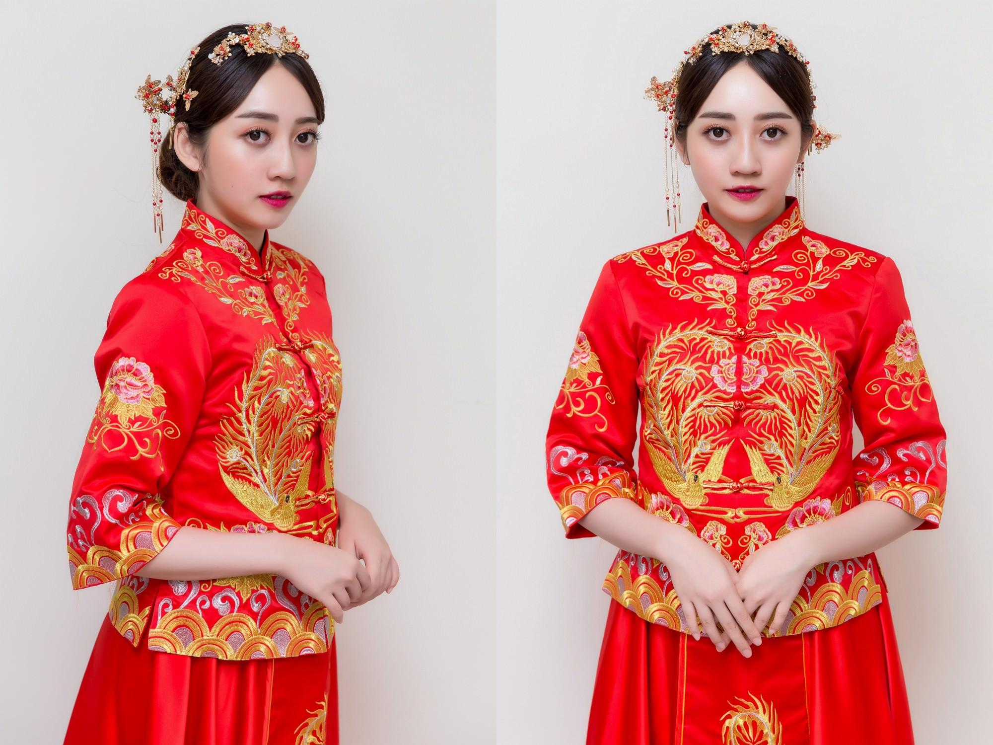 新娘造型,新娘髮型,高雄新秘,中式禮服, 秀禾服,秀禾服造型, 中式造型, CHANEL超炫耀絲絨唇露150