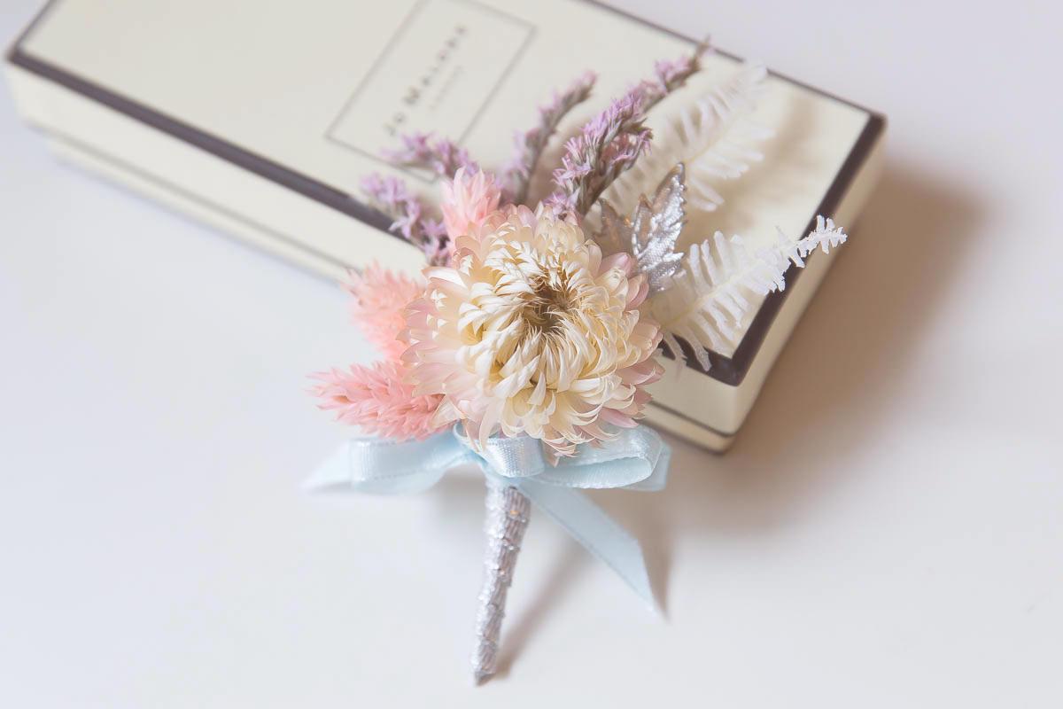 新郎胸花, 新娘秘書, 新秘, 乾燥花胸花, 紫色胸花, 不凋花胸花, boutonnieres