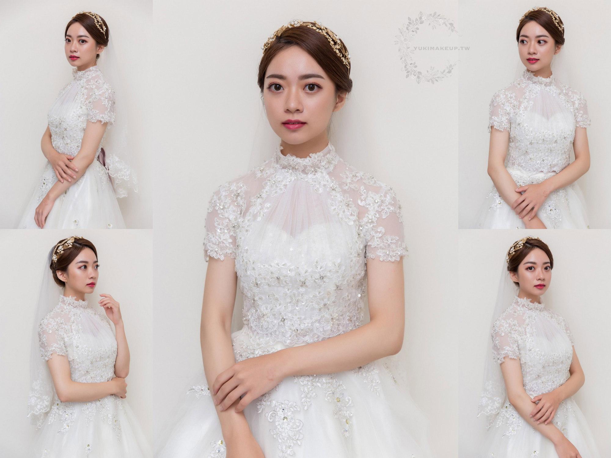 新娘秘書,新秘,新娘造型,白紗造型,新娘髮型,新娘妝容,高雄新秘,wedding hairstyle, 華麗風造型