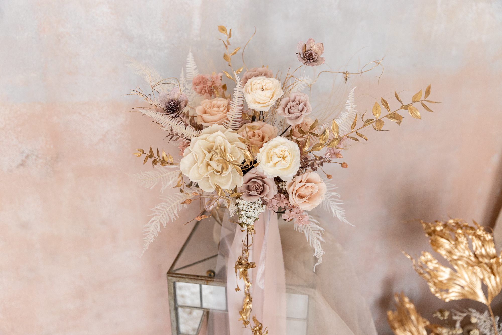 不凋花捧花|甜美有質感的粉色系不凋花捧花