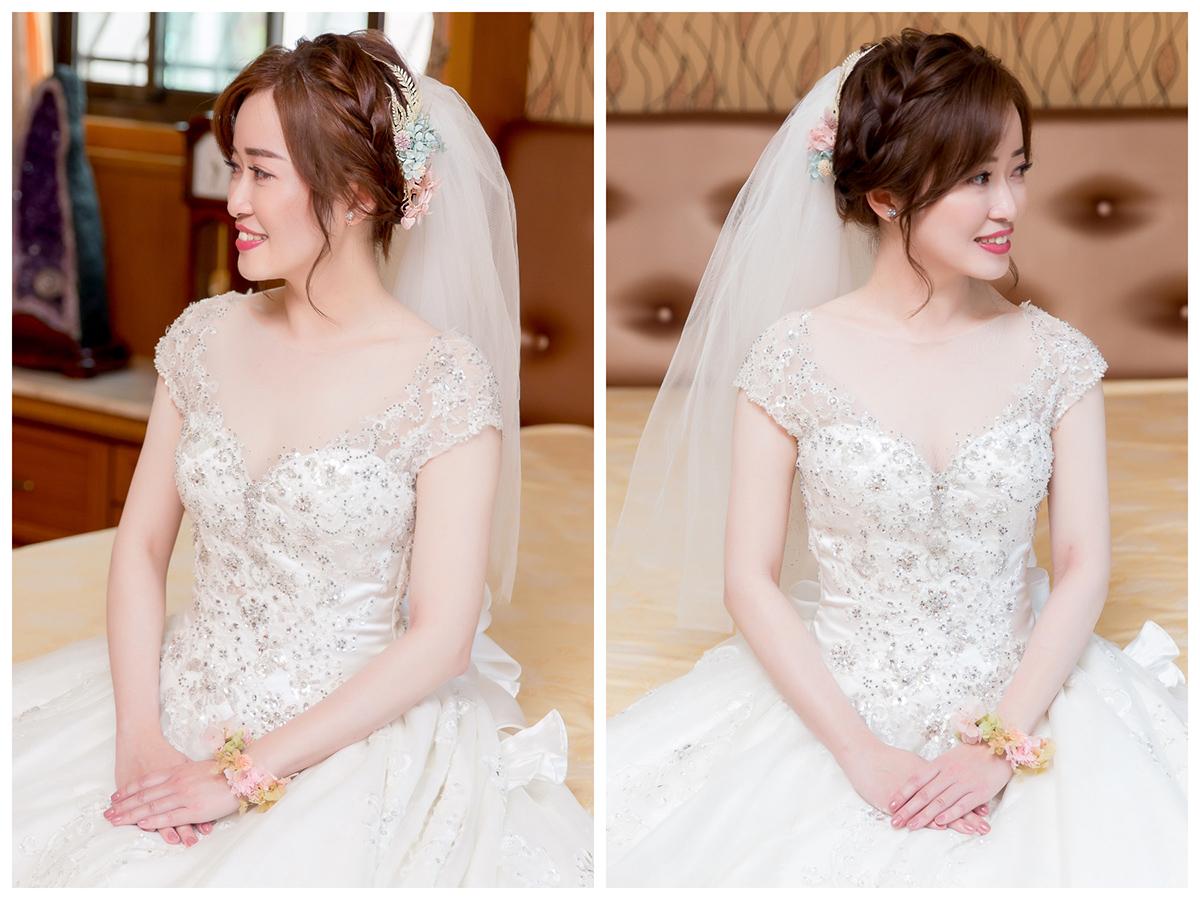 新娘秘書,新秘,新娘造型, 白紗造型,新娘髮型,編髮造型,不凋花造型,新娘妝容,高雄新秘, 新秘Yuki