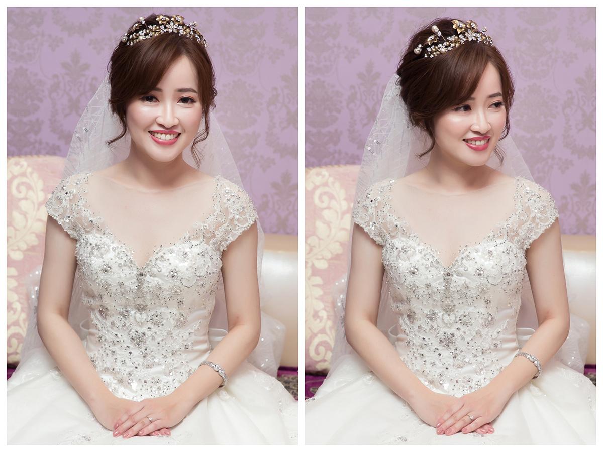 新娘秘書,新秘,新娘造型, 白紗造型,新娘髮型,皇冠造型,新娘妝容,高雄新秘, 新秘Yuki