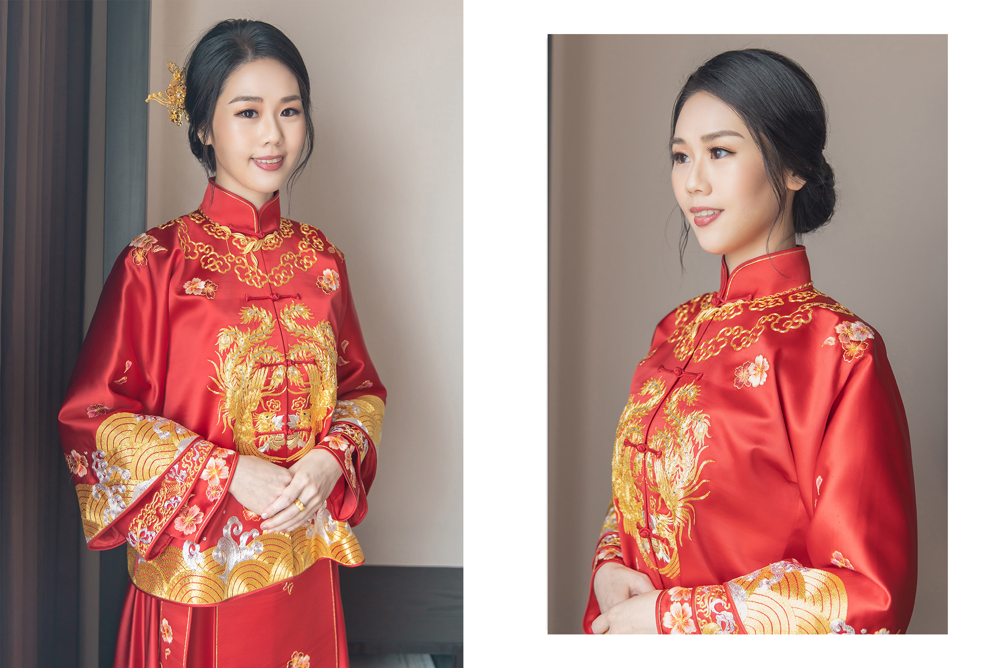 秀禾服造型|保留內雙的特色讓穿起秀禾服的新娘更有優雅的古典氣息
