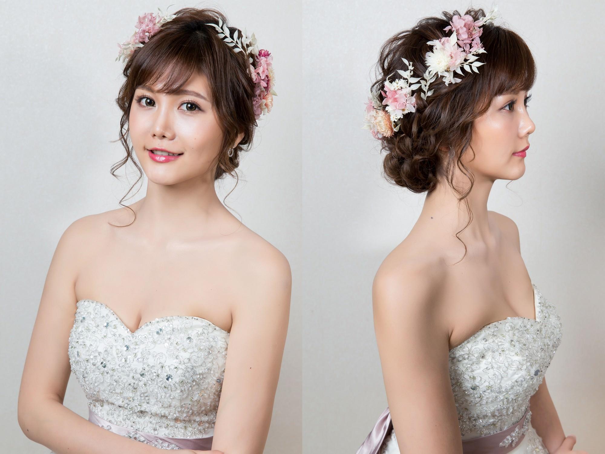 新娘秘書|新秘|新秘Yuki|新娘造型|白紗造型|新娘髮型|不凋花造型|新娘妝容|高雄新秘|wedding hairstyle| 盤髮造型|乾燥花造型|台灣新秘