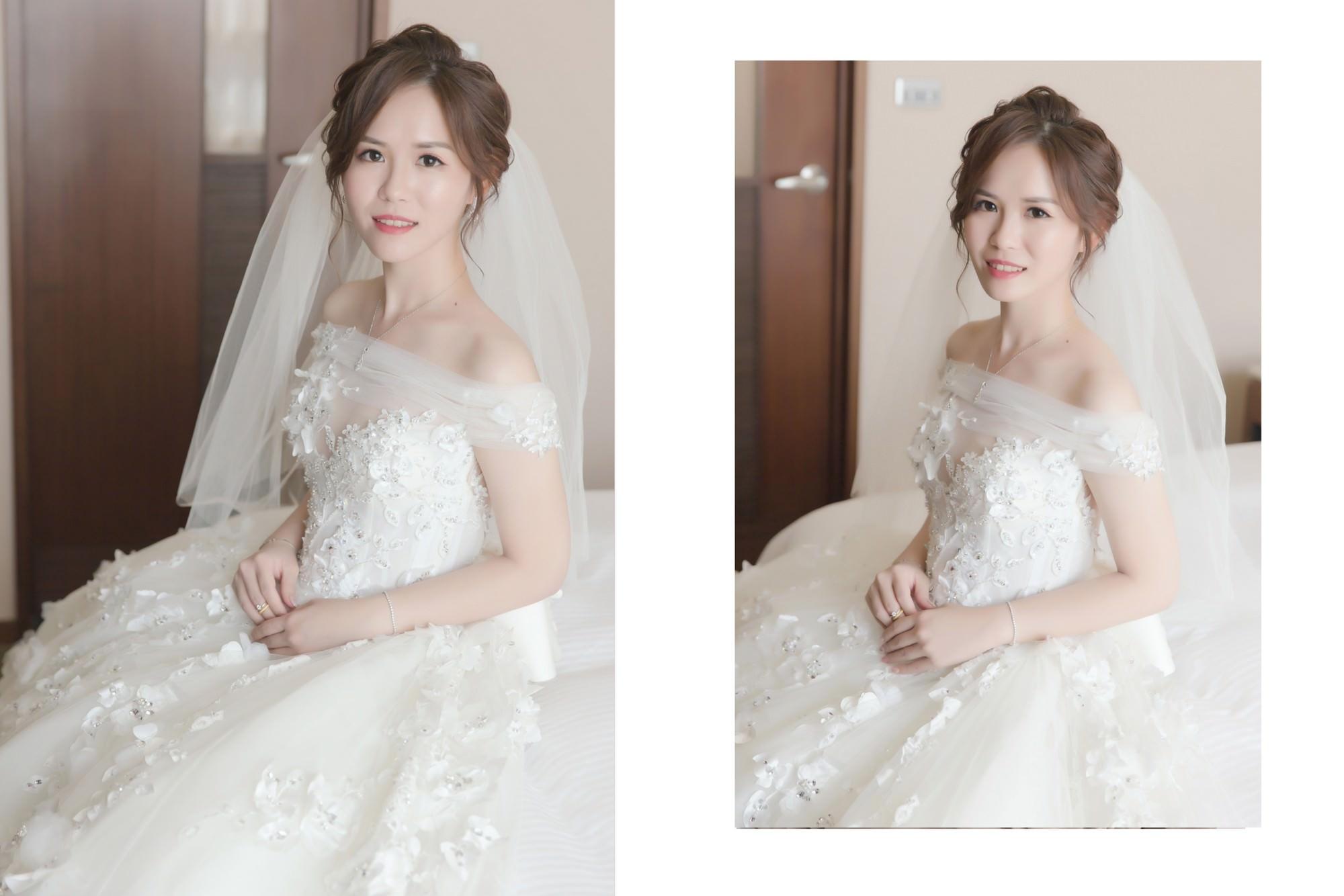 新娘秘書,新秘,新娘造型, 桃園新秘,紅色禮服,白紗造型,新娘髮型,盤髮造型,編髮造型,新娘妝容|新秘Yuki