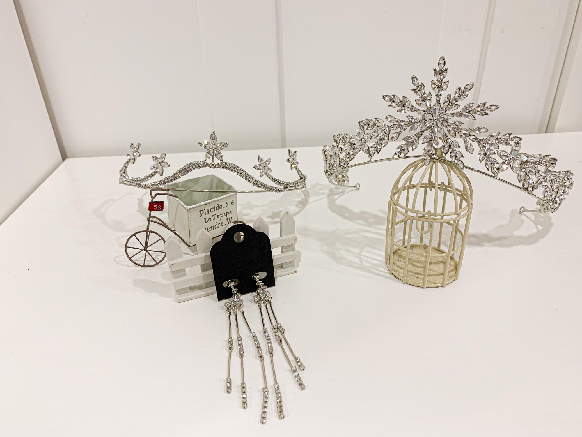 新娘飾品|施華洛世奇華麗風皇冠