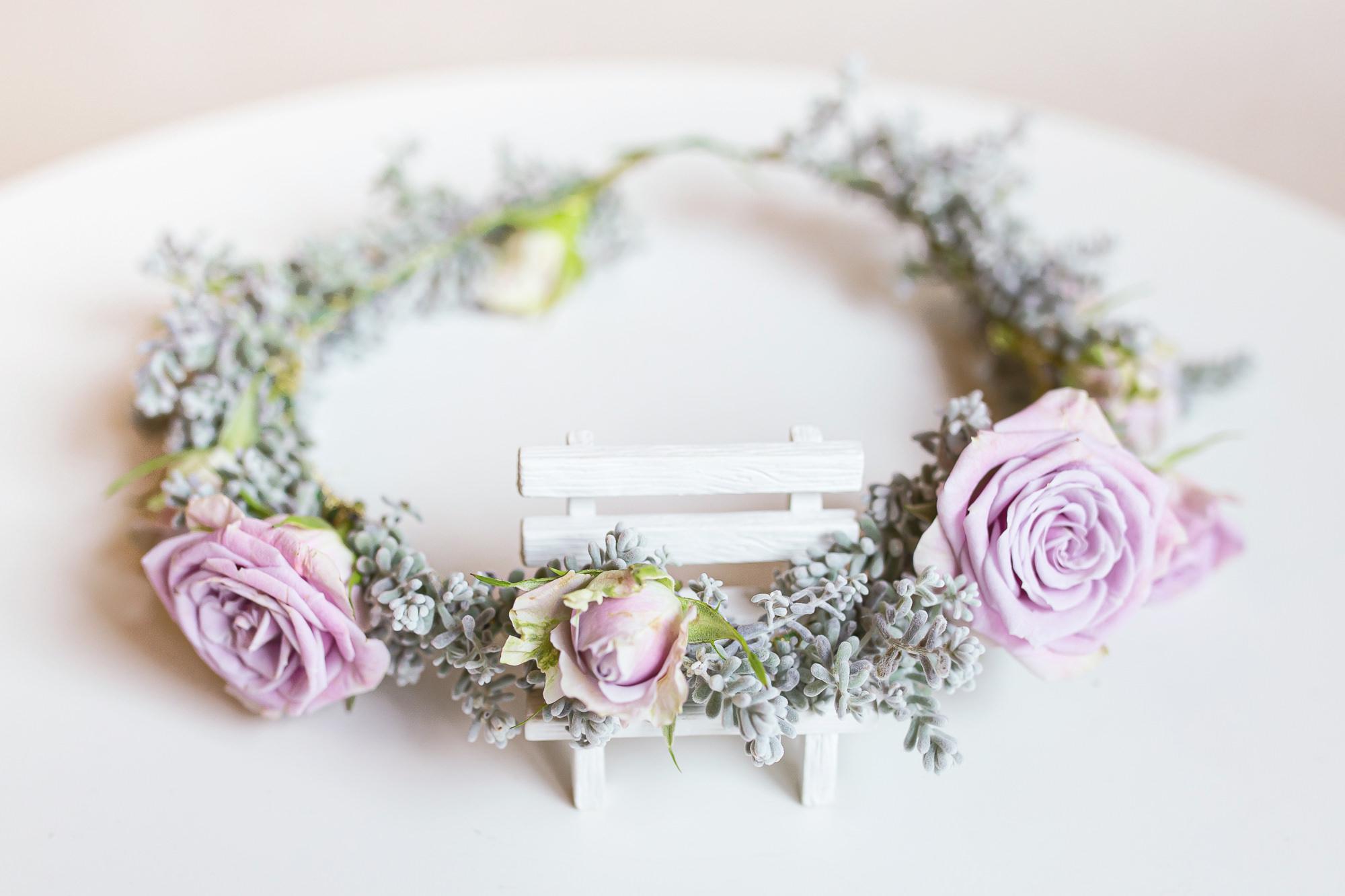 鮮花花環|浪漫的紫色玫瑰花環