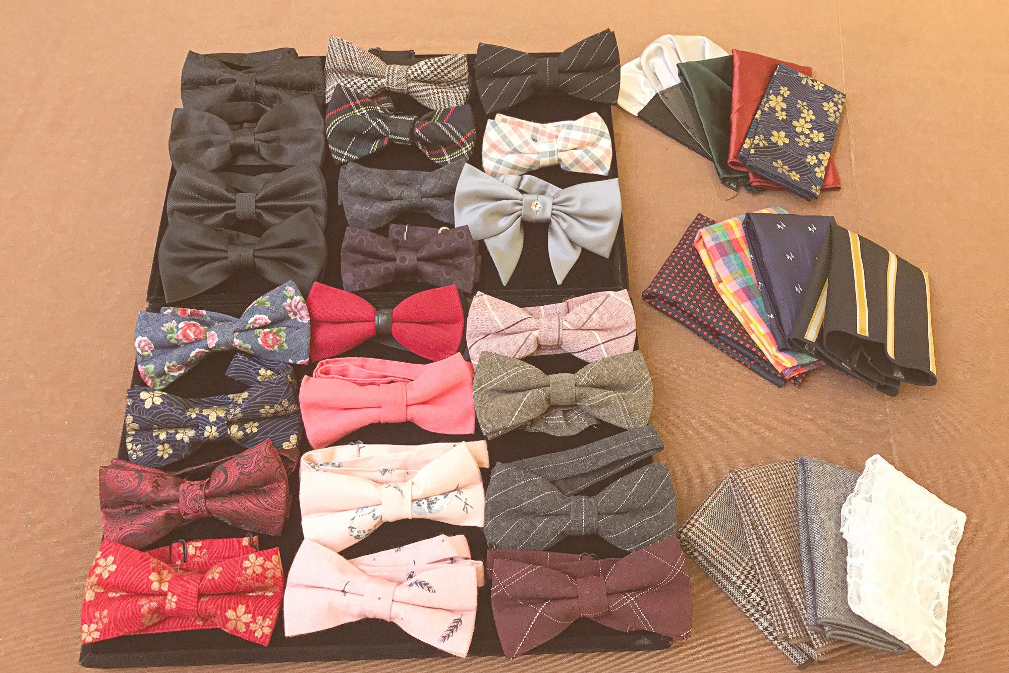 新郎造型配件|新郎領結、口袋巾