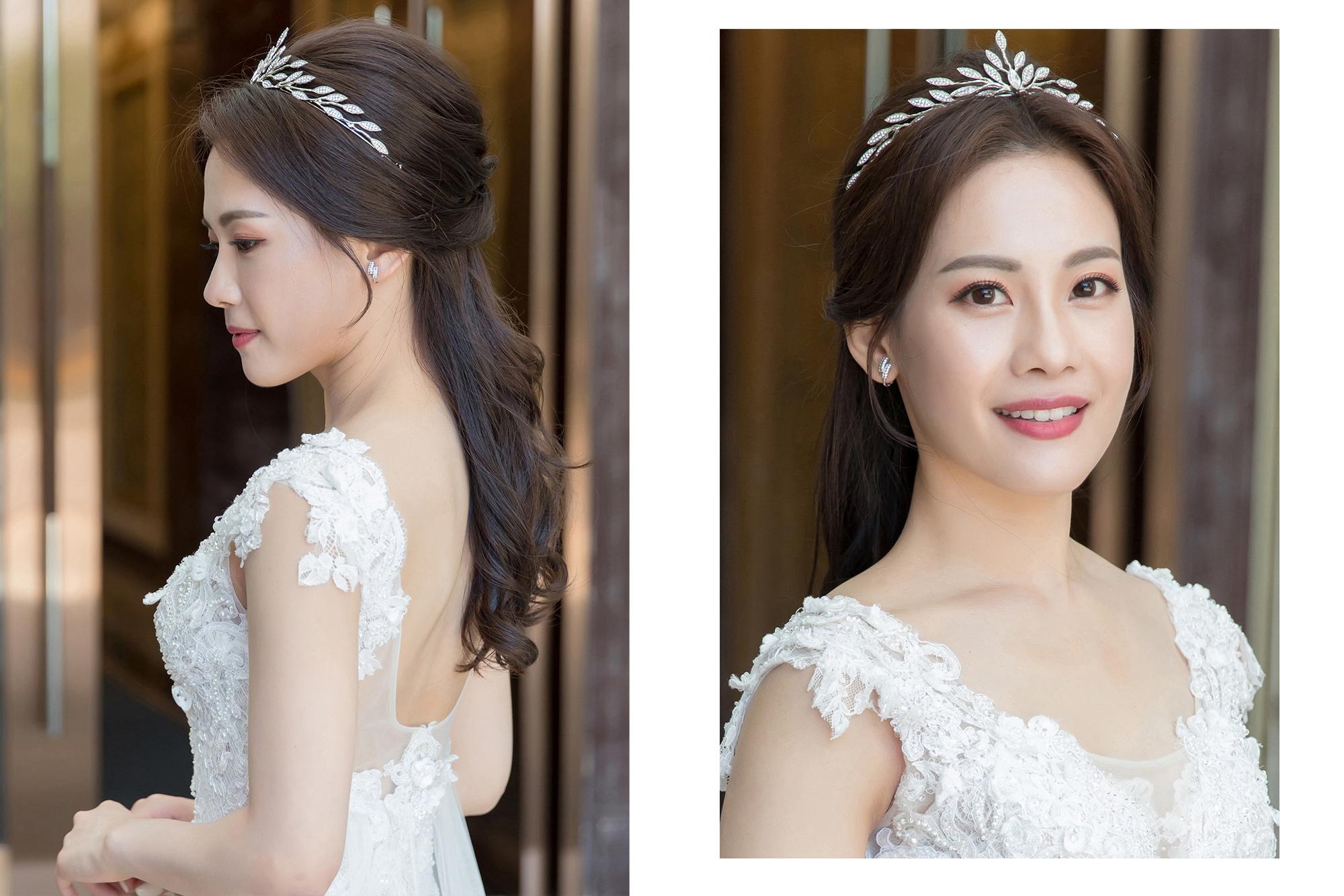 新秘Yuki, 新娘秘書, 新秘, 新娘造型, 類白紗造型, 新娘髮型,皇冠造型, 新娘妝容, 高雄新秘, 韓式藝匠,韓系造型