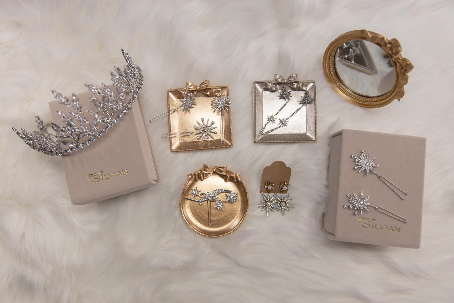 新娘飾品|華麗風手工皇冠、星星髮簪