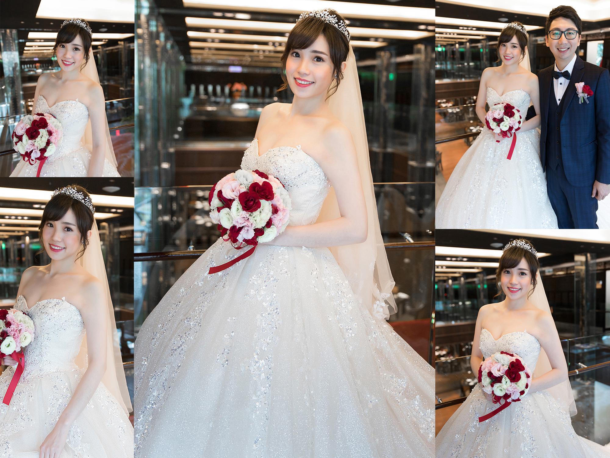 新秘Yuki,新娘秘書,新秘,新娘造型,白紗造型,新秘推薦,新娘妝容,高雄新秘, 盤髮造型, C型瀏海,故宮晶華