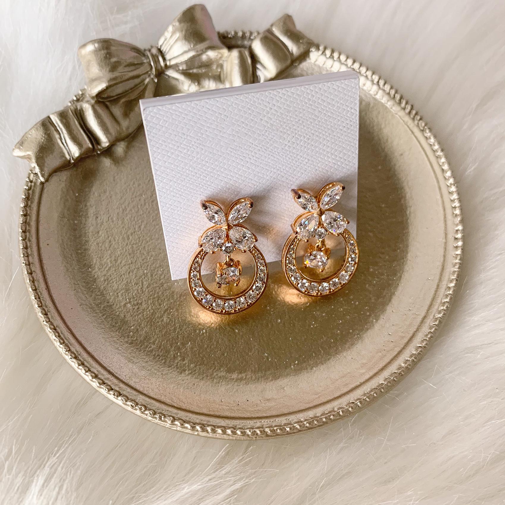 新娘飾品, 新娘耳環, 小耳環