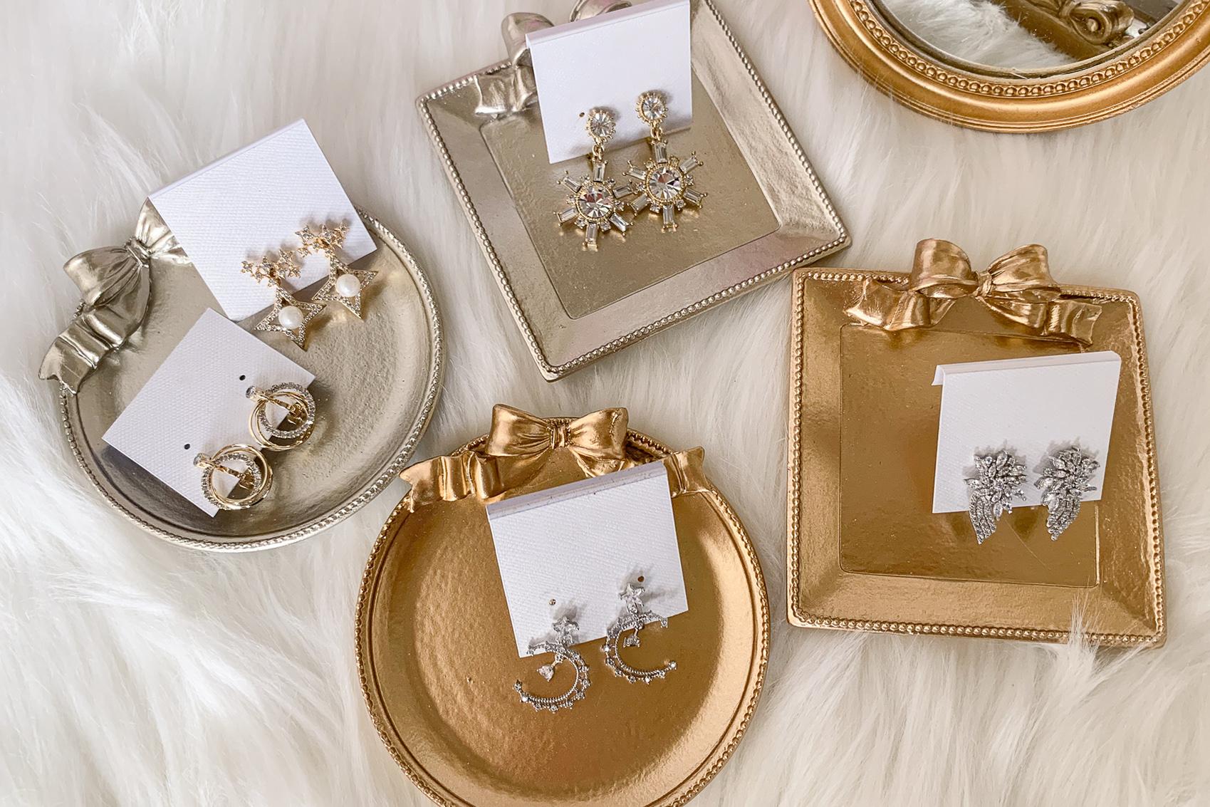 新娘飾品|適合儀式時候配戴的小巧型耳環