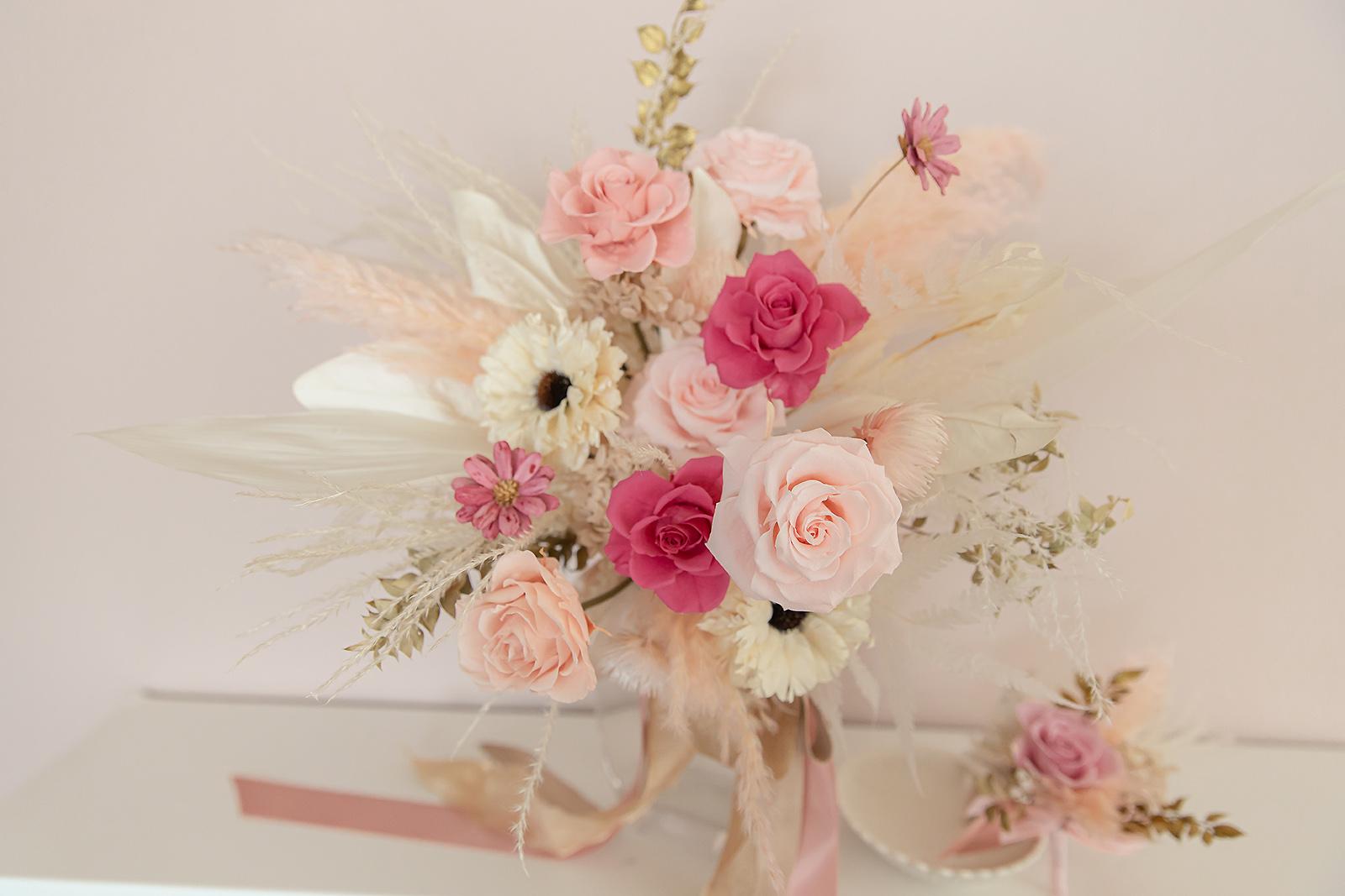 新娘捧花, 粉色系捧花, 捧花新秘, 不凋花捧花, 高雄捧花, 高雄不凋花, 高雄永生花
