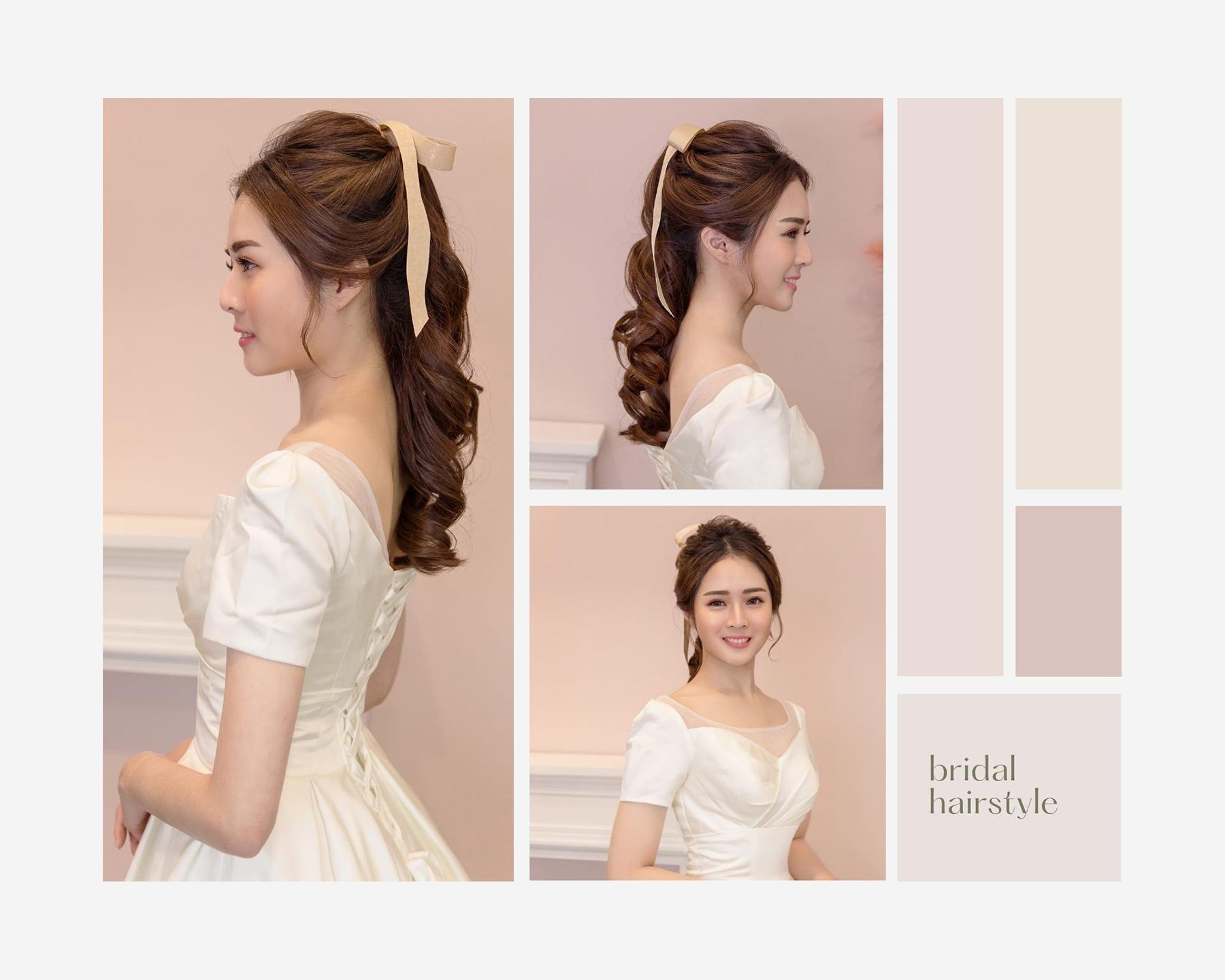 新秘YUKI,新娘秘書,新秘,新娘造型,白紗造型,公主風造型,高雄新秘,高馬尾造型,蝴蝶結