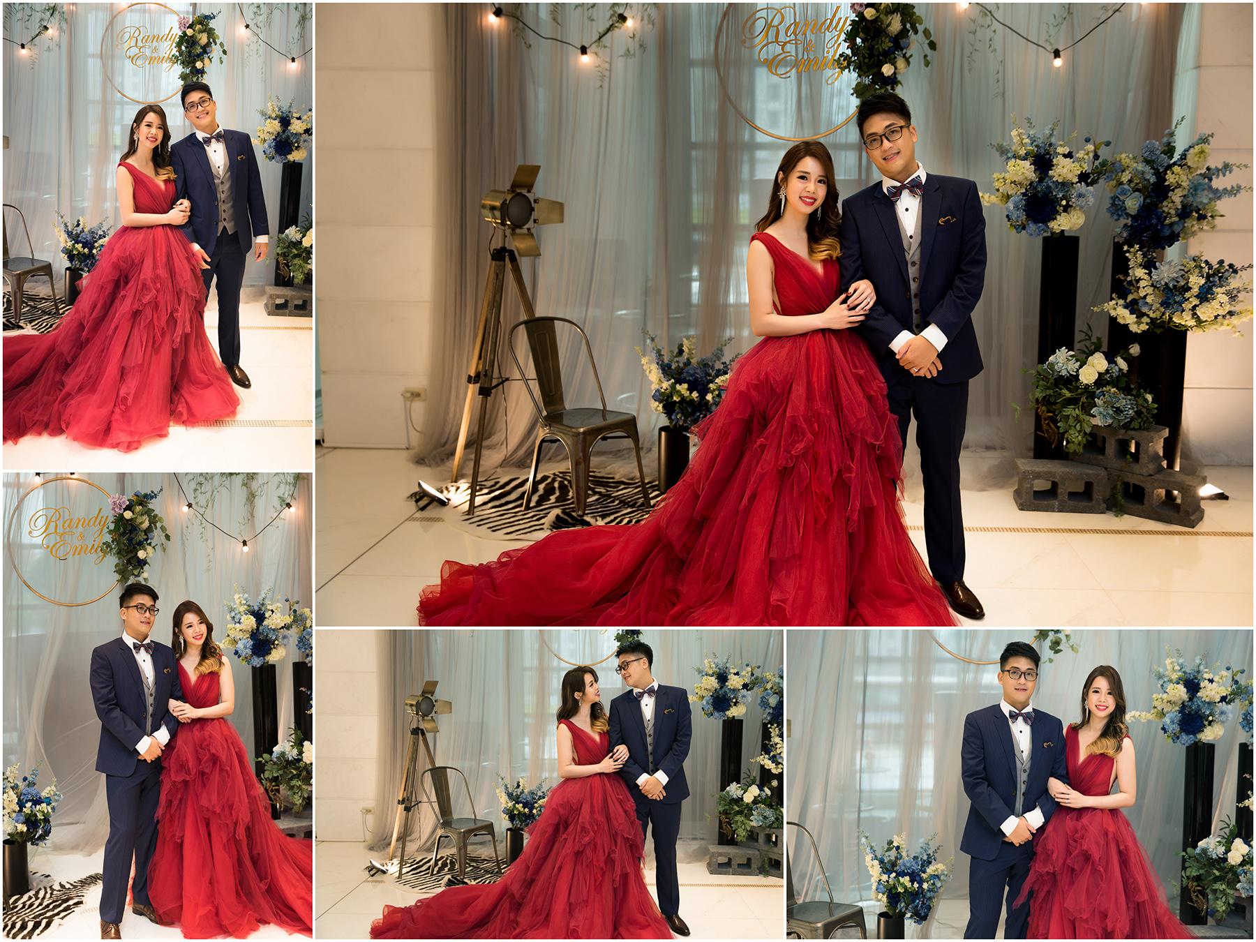 新秘Yuki, 新娘秘書, 新秘, 新娘造型, 紅色蓬裙禮服, 高雄新秘, 宮廷風造型, 維多麗亞酒店,