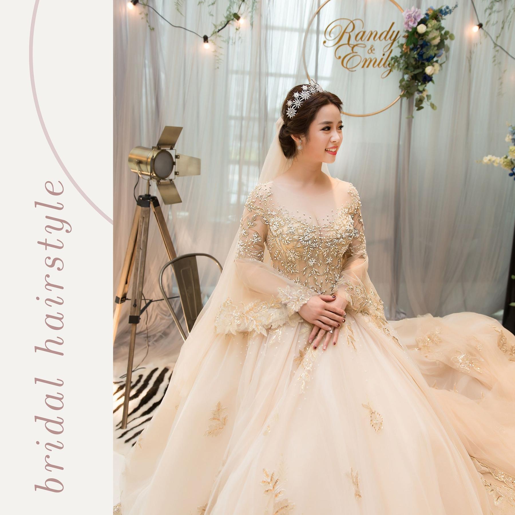 新秘Yuki, 新娘秘書, 新秘, 新娘造型, 白紗造型, 高雄新秘, 宮廷風造型, 維多麗亞酒店,