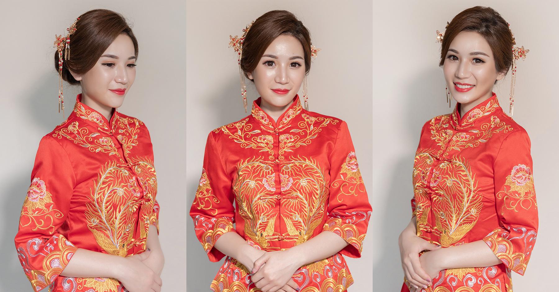 新娘造型, 新娘髮型, 盤髮造型, 高雄新秘, 秀禾服造型, 秀禾服, 中式造型, 秀禾服髮型, 新秘Yuki, 好媳婦造型