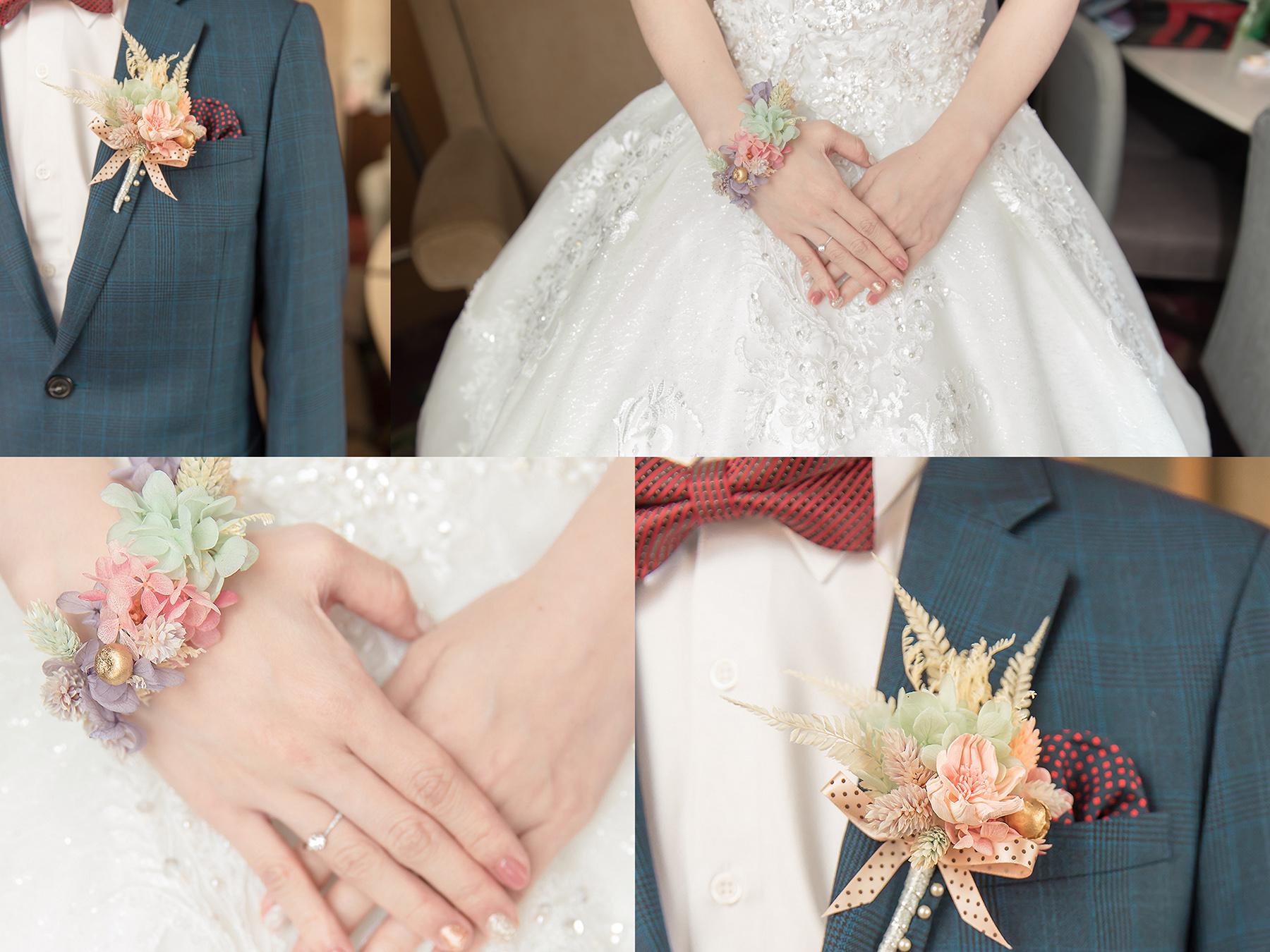 新秘Yuki, 新娘秘書, 新秘, 新娘造型, 新秘推薦 ,新娘妝容, 高雄新秘, 手腕花, 胸花