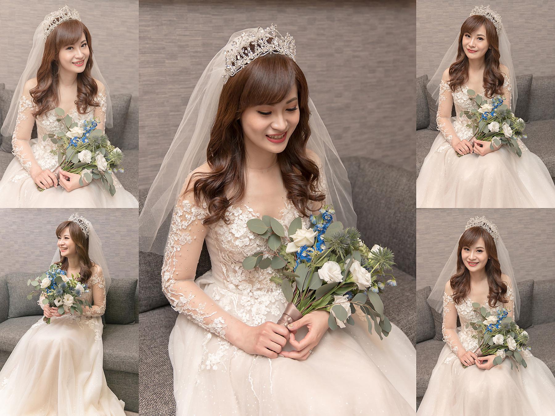 新秘Yuki, 新娘秘書, 新秘, 新娘造型, 白紗造型, 新秘推薦,Honeysuckle Atelier ,新娘妝容, 台北新秘, 華麗風造型, 寒舍艾麗婚宴