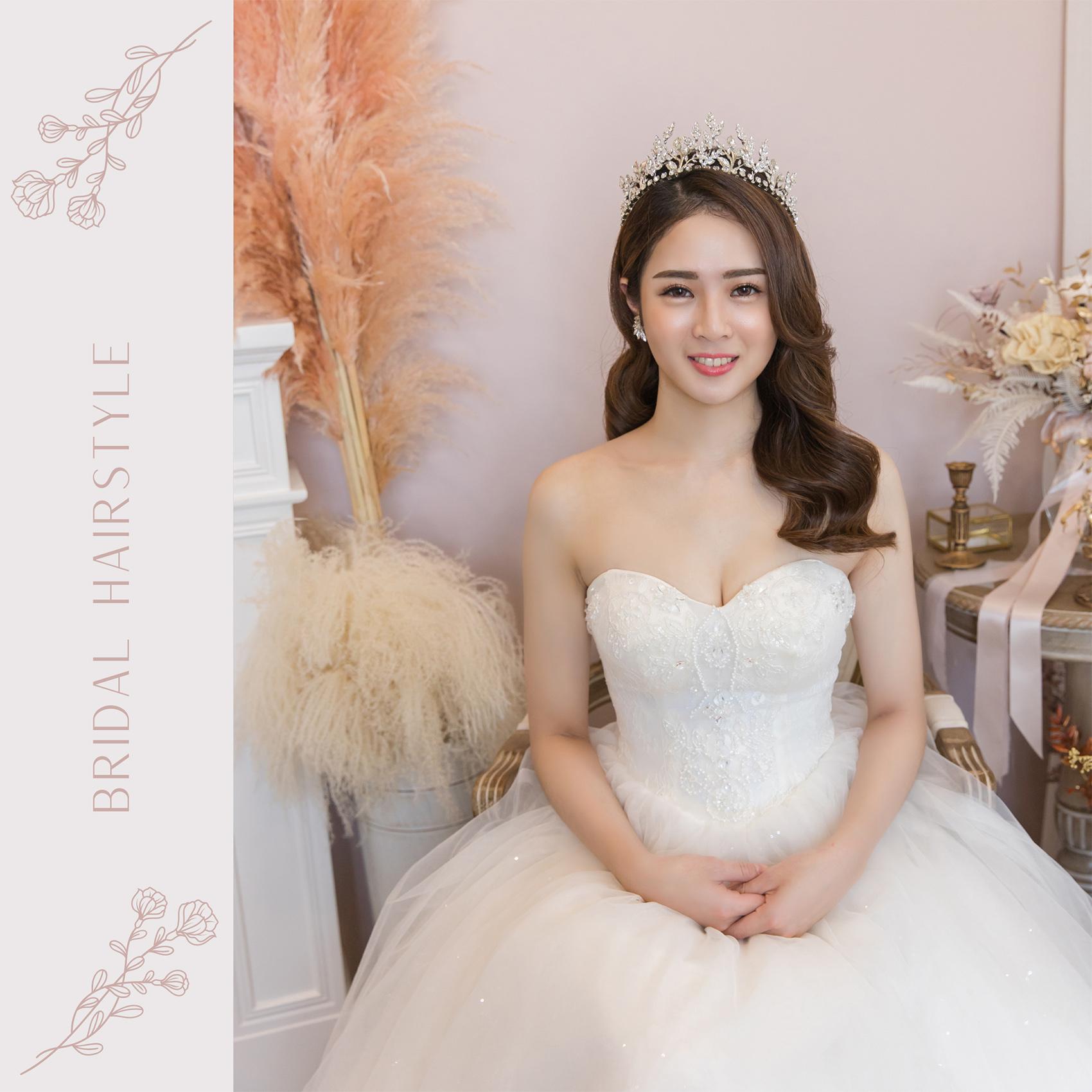 新秘Yuki, 新娘秘書, 新秘, 新娘造型, 公主風造型, 高雄新秘, 素人改造, 白紗造型, 皇冠造型, 混血感, 高雄新秘