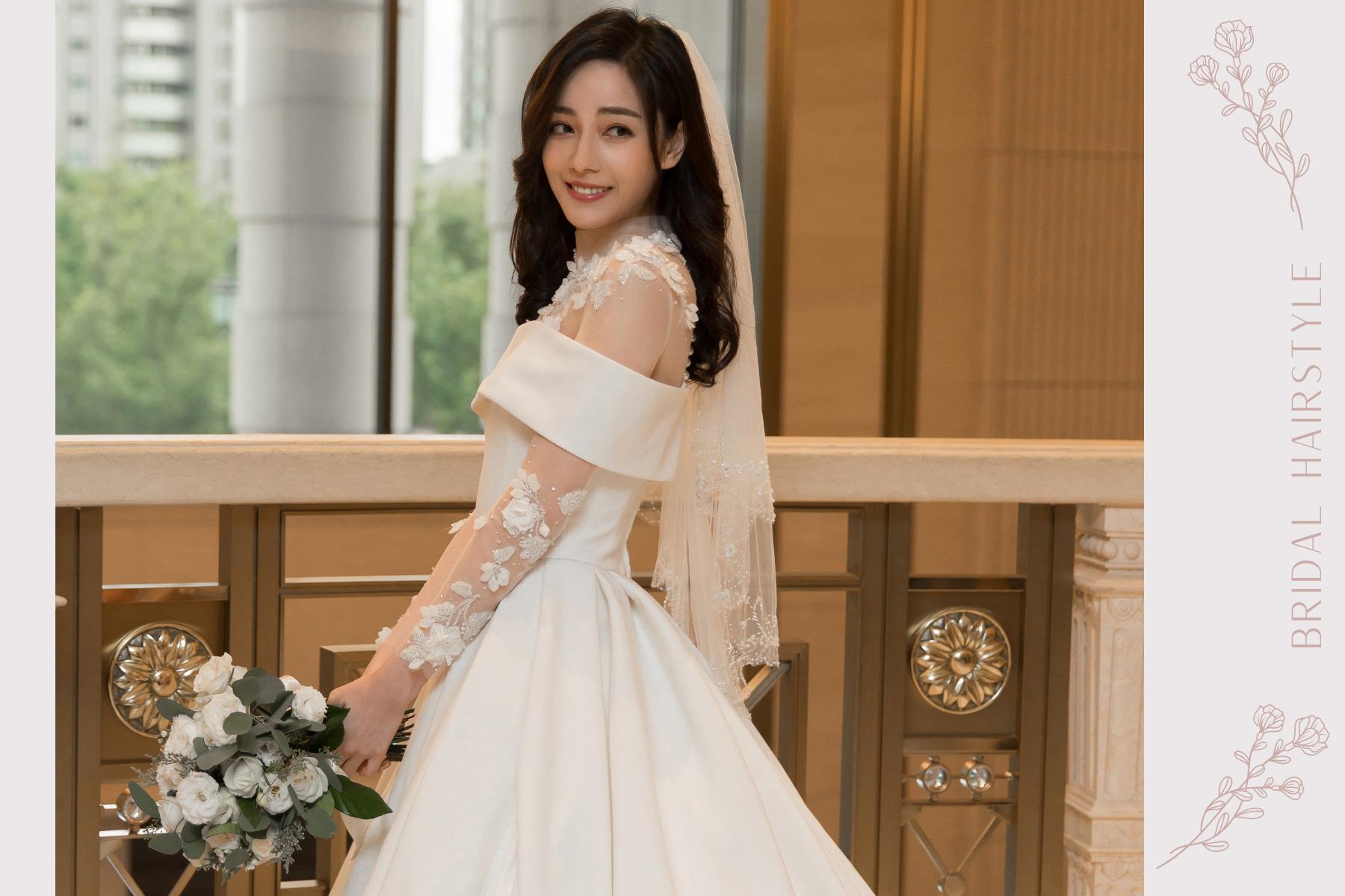 台北新秘|自然優雅又能凸顯個人優點的新娘妝容|美福婚宴