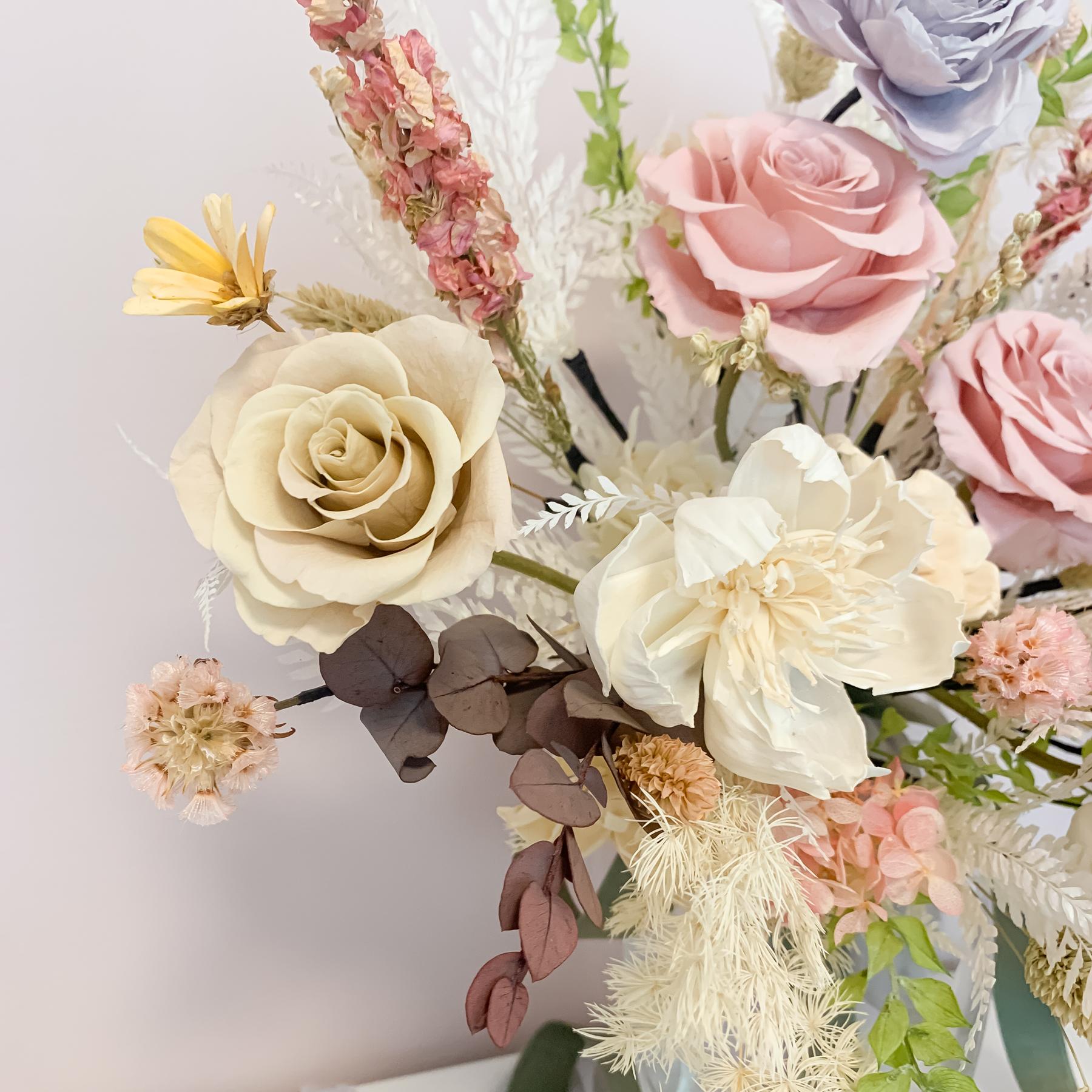 新娘捧花, 莫蘭迪捧花, 捧花新秘, 不凋花捧花, 高雄捧花, 高雄不凋花, 高雄永生花