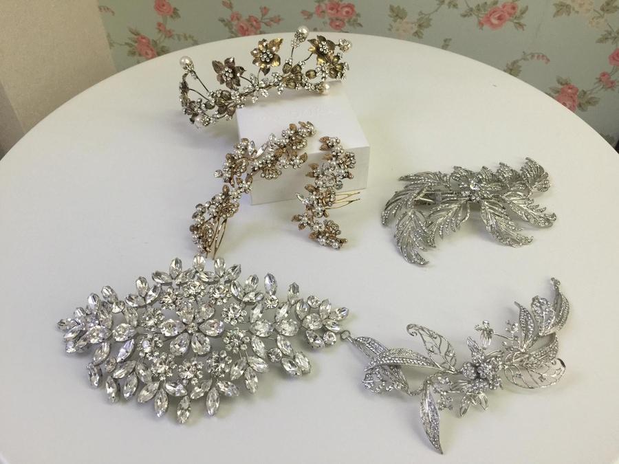 新娘飾品│精緻典雅的古銅金頭飾、設計款髮飾