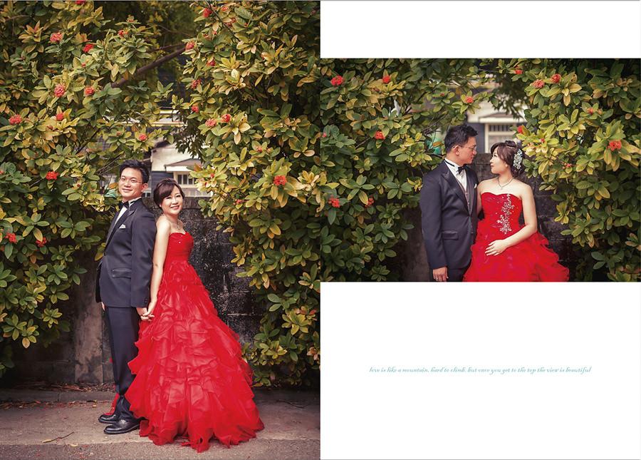 新秘Yuki│花蓮婚紗│紅色禮服│新娘包頭│婚紗照