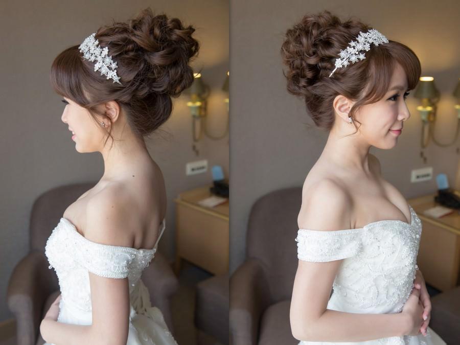 台北新秘│新秘推薦│白紗造型│丸子頭造型│新娘髮型|可愛新娘|新娘造型|新娘髮型|白紗造型|高雄新秘|新秘YUKI|婚宴造型