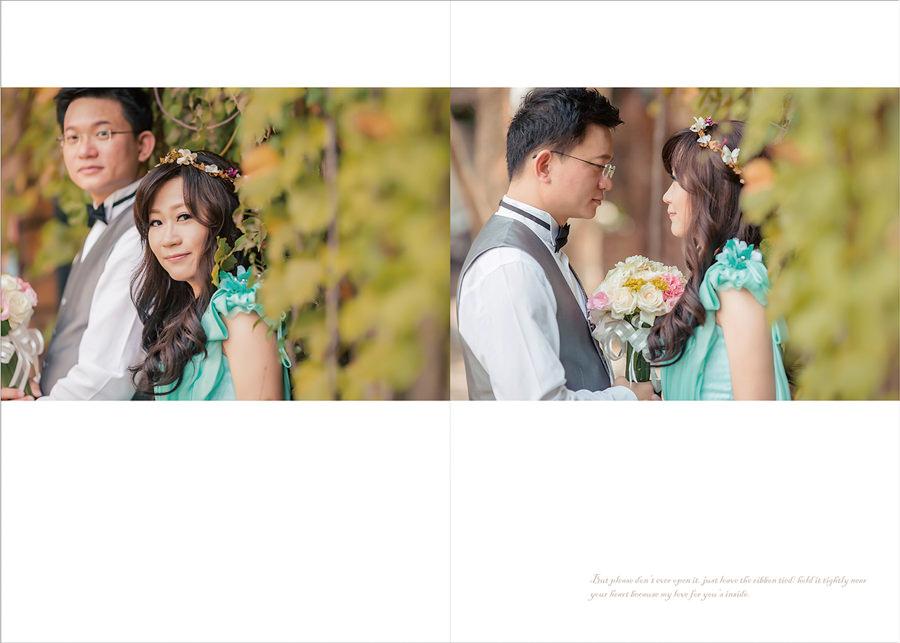新秘Yuki│花蓮婚紗│綠色禮服│長捲髮│新娘頭花│花圈造型│婚紗照│全家福