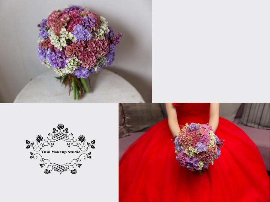 鮮花新秘│新娘捧花│紫色新娘捧花│繽紛色系