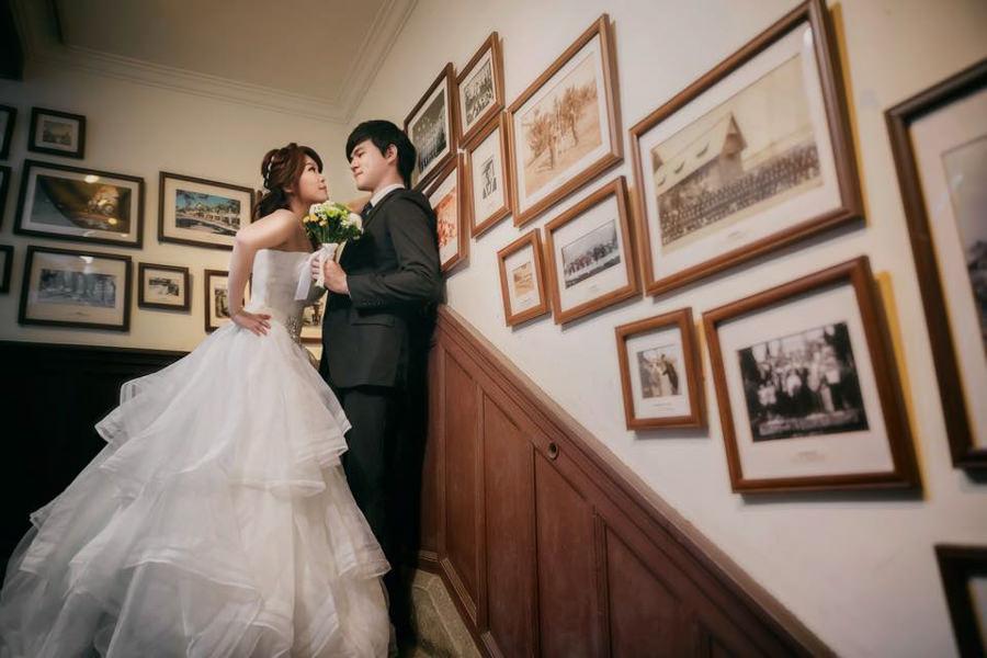 新秘Yuki│台北婚紗│白紗造型│公主頭│婚紗照│台大校園